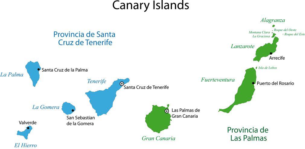 Kanaren Inseln Karte.Kanarische Inseln Urlaub Auf Den Kanarischen Inseln